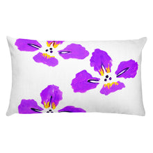 Purple Iris Rectangle Pillow