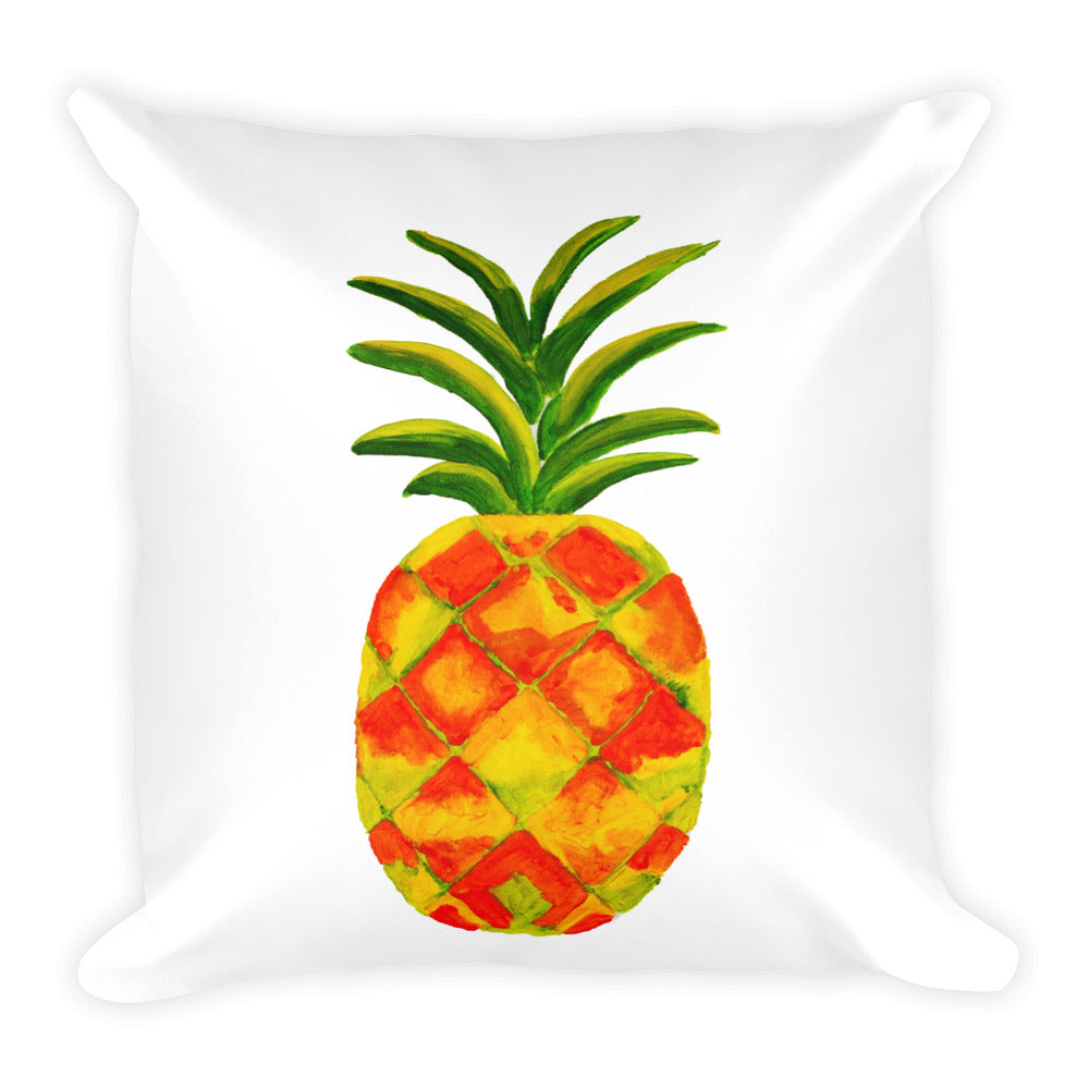 Golden Pineapple Square Pillow
