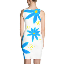 Blue Daisies • Fitted Dress