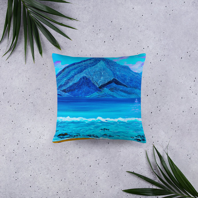 Many Lines Mountain • Basic Pillow Front