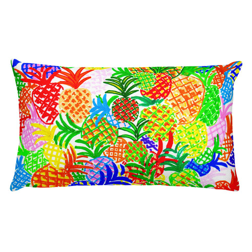 Colorful Pineapples • Rectangular Pillow