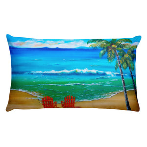 Beach Time • Rectangular Pillow