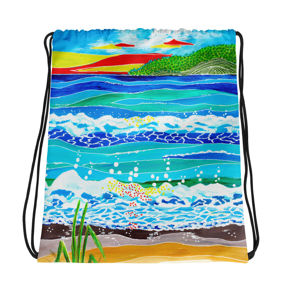 Whimsical Sunset • Drawstring bag