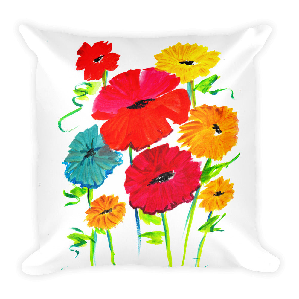 Spring Flowers • Square Pillow