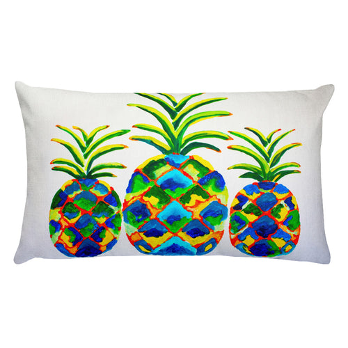 Blue Pineapples • Rectangular Pillow