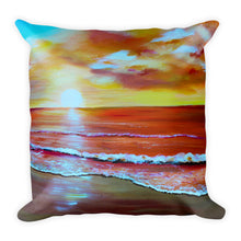 Sunset Beach • Square Pillow