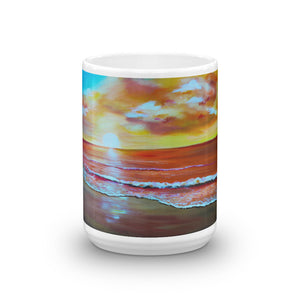 Sunset beach • Mug