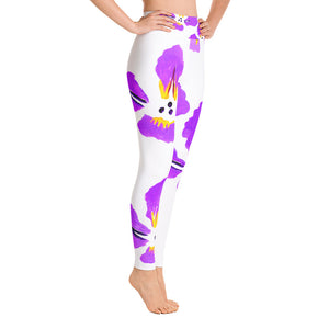 Purple Iris Yoga Leggings