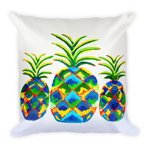 Blue Pineapples • Square Pillow