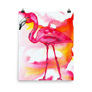 Pink Flamingo • Art Print