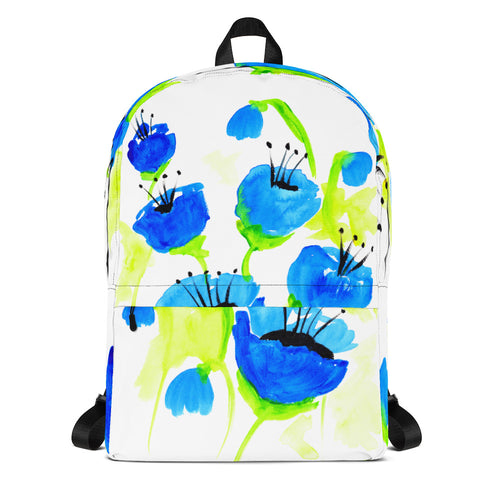 Blue Poppies Backpack