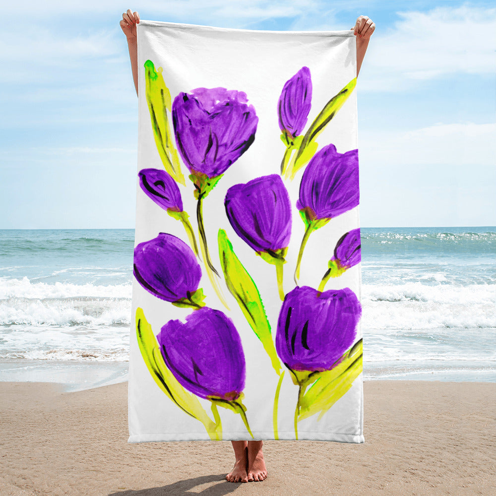 Purple Tulip Towel