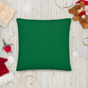 Flamingo Christmas Tree square pillow back