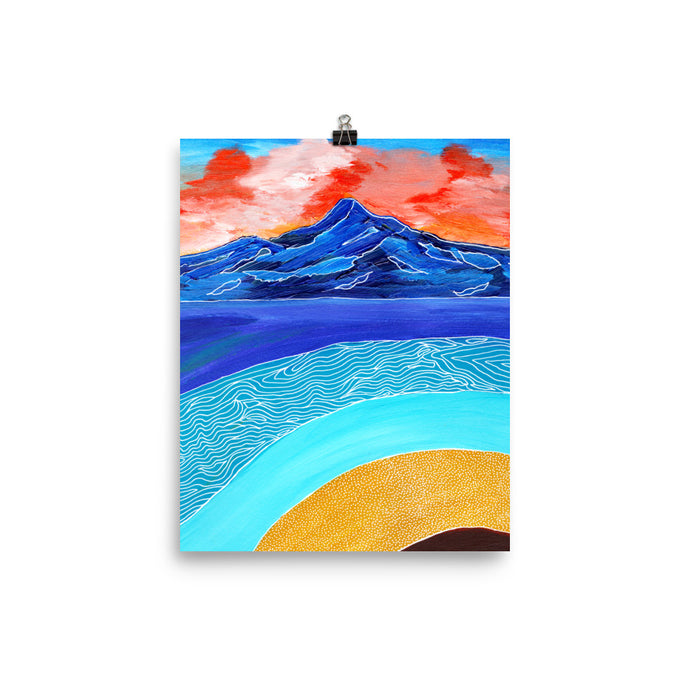 Blue Mountain Sunset • Art Print