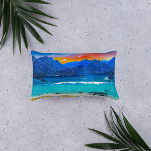 Water Meets the Mountains • Basic Pillow