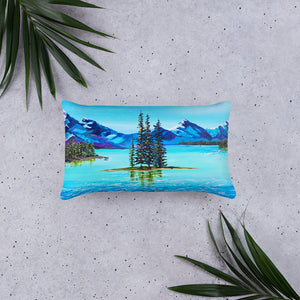 Mountain Bliss • Basic Pillow front 20 x 12 in
