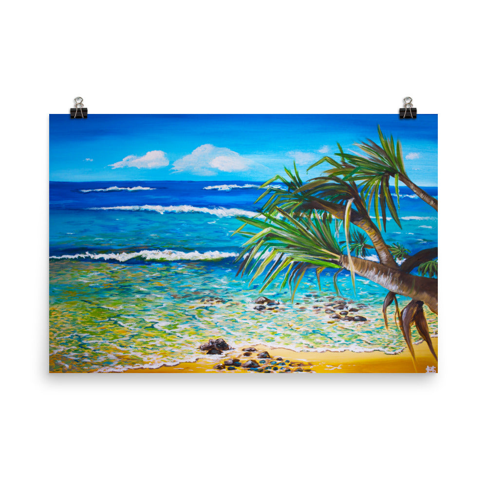 Pandanus Beach Art Print