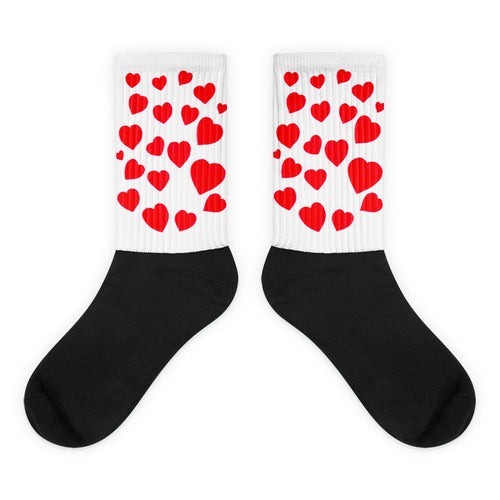 Red Hearts Socks