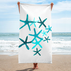 Blue Starfish Towel