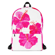 Pink Hibiscus Backpack
