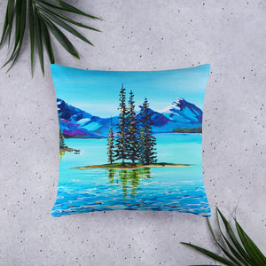 Mountain Bliss • Basic Pillow front 22 x 22 in