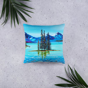 Mountain Bliss • Basic Pillow front 18 x 18 in