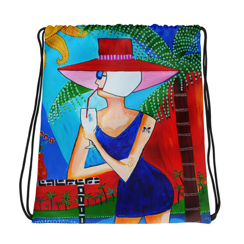 Tropical Bliss • Drawstring bag