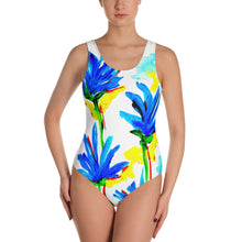 Blue Flowers One-Piece Swimsuit