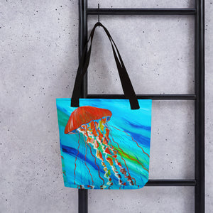 Orange Jellyfish • Tote bag