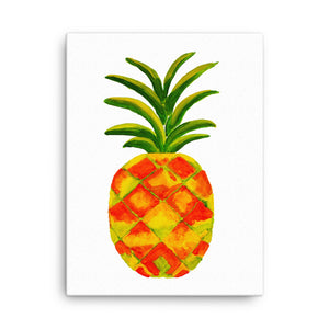 Golden Pineapple Canvas 18 x 24 inches
