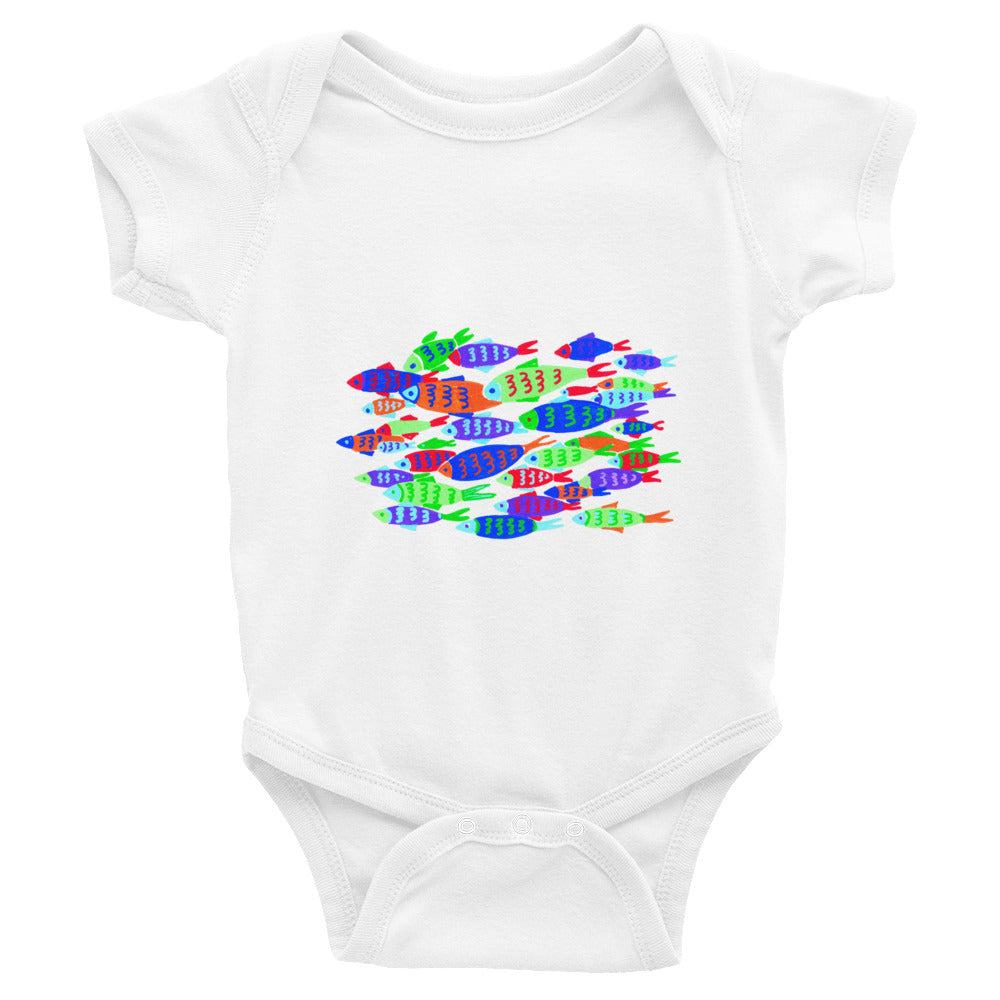 Colorful Fish Infant Bodysuit