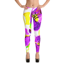 Purple Poppies Leggings
