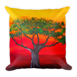 Sunset Tree • Square Pillow