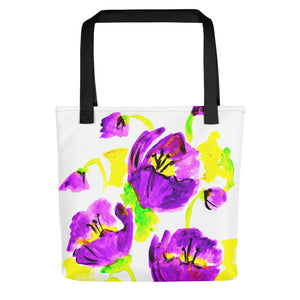 Purple Poppies Tote Bag