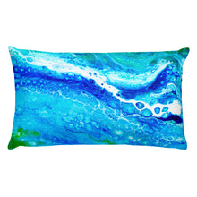 Blue Lace Rectangular Pillow
