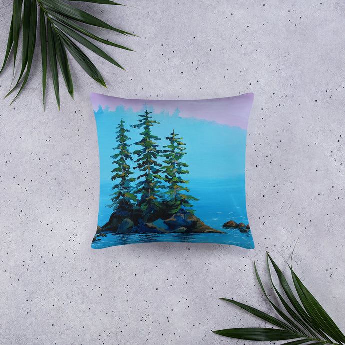 Island Pines Pink Sky • Basic Pillow front 18 x 18 in