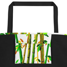 Bamboo Beach Bag Inside Pocket View