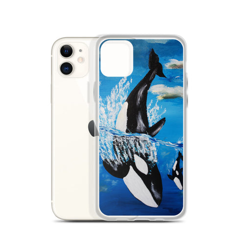 Orca and Baby • iPhone Case