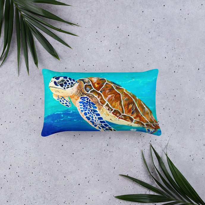 Brown Sea Turtle • Basic Pillow