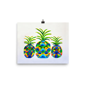 Blue Pineapples • Art Print
