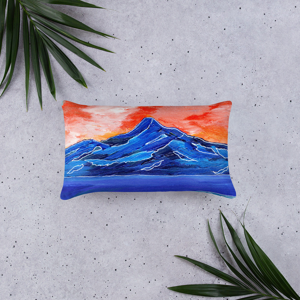Blue Mountain Sunset • Basic Pillow Front