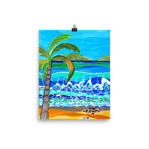Palm on Beach • Art Print