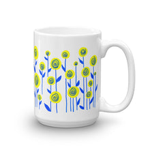 Yellow and Blue Flowers Mug