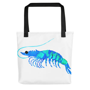 Blue Prawn Tote Bag