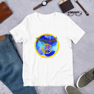 Daisy Peace Sign • Short-Sleeve Unisex T-Shirt