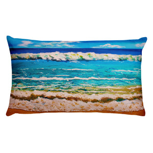 Tropical Waves • Rectangular Pillow