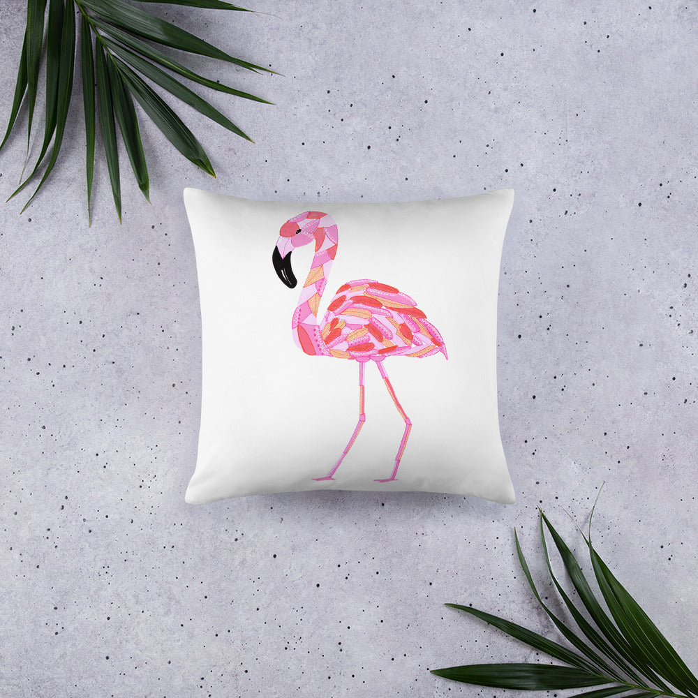 Mosaic Flamingo II • Basic Pillow