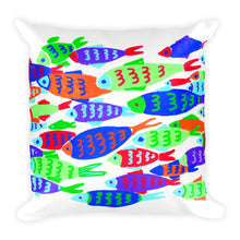 Colorful Fish Square Pillow