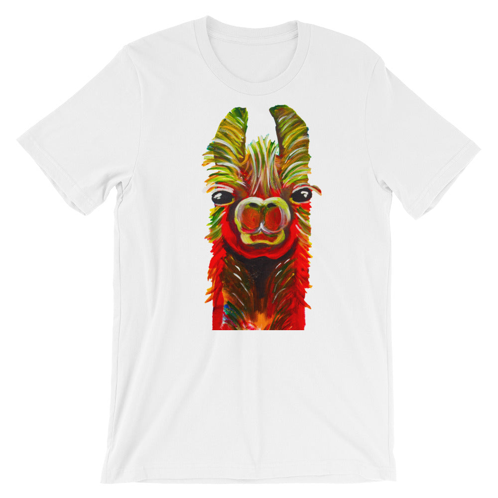 Llama White Short-Sleeve Unisex T-Shirt