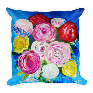 Vase Of Flowers • Square Pillow